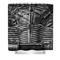 Buick Eight Front End Bw Shower Curtain