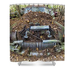 Buick In Decay Shower Curtain