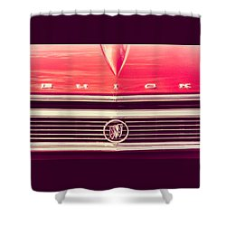 Buick Retro Shower Curtain by Caitlyn Grasso