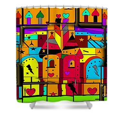 Shower Curtain featuring the digital art Build Your Fairytale World By Nico Bielow by Nico Bielow