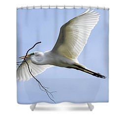 Shower Curtain featuring the photograph Building A Home by Gary Wightman