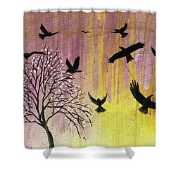 Shower Curtain featuring the painting Building A Legacy by Nathan Rhoads