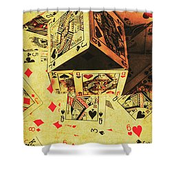 Shower Curtain featuring the photograph Building Bets And Stacking Odds by Jorgo Photography - Wall Art Gallery