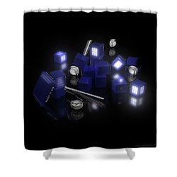 Building Blocks Of Space Time Travel Shower Curtain