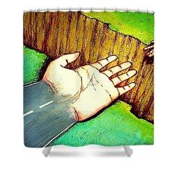 Building Bridges Shower Curtain