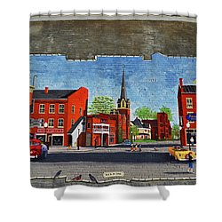 Building Mural - Cuba New York 001 Shower Curtain