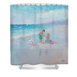 Building Sandcastles Shower Curtain