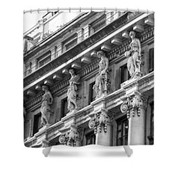 Shower Curtain featuring the photograph Building by Silvia Bruno