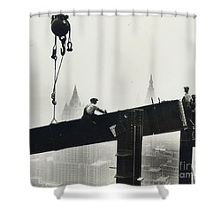 Building The Empire State Building Shower Curtain