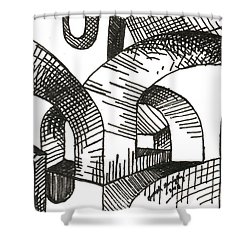 Buildings 1 2015 - Aceo Shower Curtain