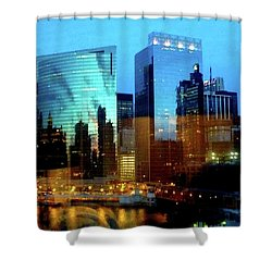 Reflections On The Canal Shower Curtain