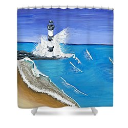 Built On Solid Rock Shower Curtain