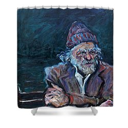 Bukowski Shower Curtain