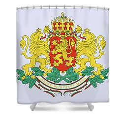 Bulgaria Coat Of Arms Shower Curtain by Movie Poster Prints