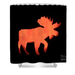 Bull Moose Pumpkin Shower Curtain