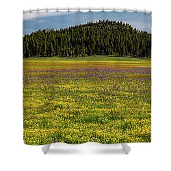 Shower Curtain featuring the photograph Bull Prairie by Leland D Howard