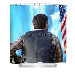 Shower Curtain featuring the photograph Bull Rider by Brian Wallace