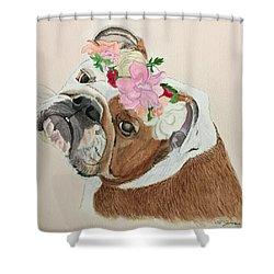 Bulldog Bridesmaid Shower Curtain