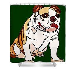 Bulldog Shower Curtain