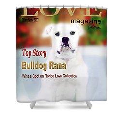 Bulldog Rana Poster 8 Shower Curtain