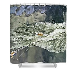 Bullet Fragmentation Abstract Shower Curtain by Kristin Elmquist