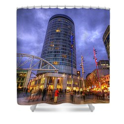 Bullring Centre Shower Curtain by Yhun Suarez