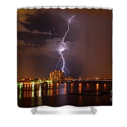 Bulls Eye Shower Curtain