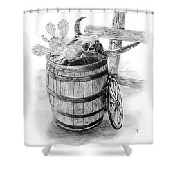 Bull's Head Barrell 3 Shower Curtain