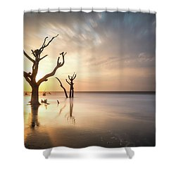 Bulls Island Sunrise Shower Curtain