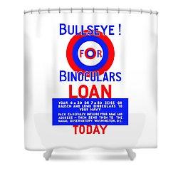 Bullseye For Binoculars Shower Curtain by War Is Hell Store