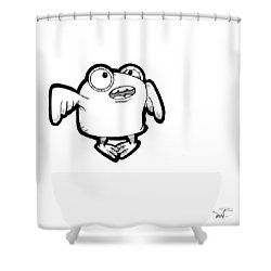 Shower Curtain featuring the digital art Buma by Uncle J's Monsters