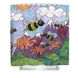 Bumble Bee Buzz Shower Curtain
