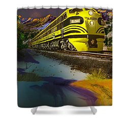 Bumble Bee F Unit Zephyr Shower Curtain