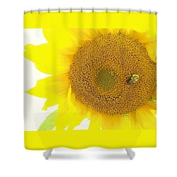 Bumble Bee Sunflower Shower Curtain