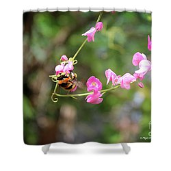 Shower Curtain featuring the photograph Bumble Bee1 by Megan Dirsa-DuBois