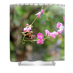 Shower Curtain featuring the photograph Bumble Bee2 by Megan Dirsa-DuBois