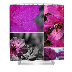 Bumblebee Bonanza Shower Curtain by Priscilla Richardson