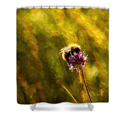 Shower Curtain featuring the photograph Bumblebee  by Rose-Maries Pictures