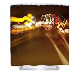 Shower Curtain featuring the painting Bump by Xn Tyler
