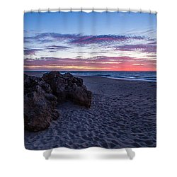 Bunbury Sunset Shower Curtain