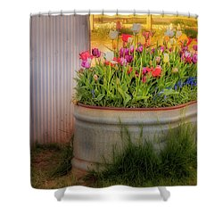 Shower Curtain featuring the photograph Bunch Of Tulips by Susan Candelario
