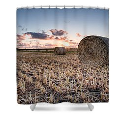 Bundy Hay Bales #4 Shower Curtain