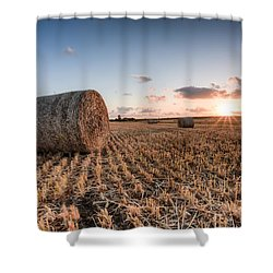 Bundy Hay Bales #5 Shower Curtain