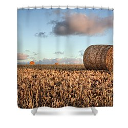 Bundy Hay Bales #7 Shower Curtain