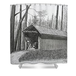 Bunker Hill Covered Bridge  Shower Curtain