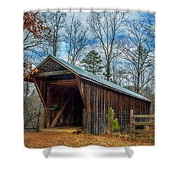 Bunker Hill Cvered Bridge Shower Curtain