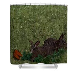Bunny  Buddies Shower Curtain