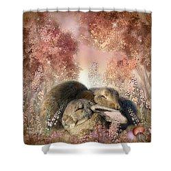 Bunny Dreams Shower Curtain by Carol Cavalaris