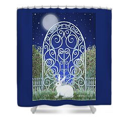 Bunny, Gate And Moon Shower Curtain