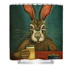 Bunny Hops Shower Curtain by Leah Saulnier The Painting Maniac